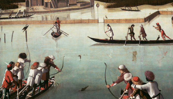 Carpaccio_Vittore_-_Hunting_on_the_Lagoon_recto_Letter_Rack_verso_-_Google_Art_Project
